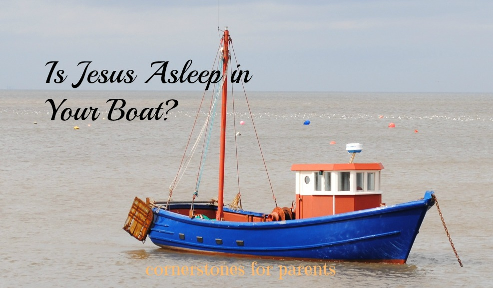 Jesus asleep in the boat