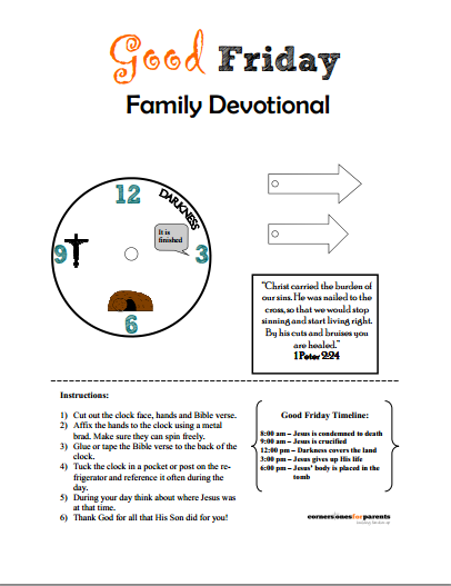 Good Friday Family Devotional - FREE printable