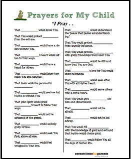 prayer for child small