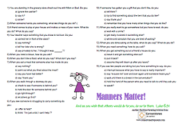 Free printable on manners