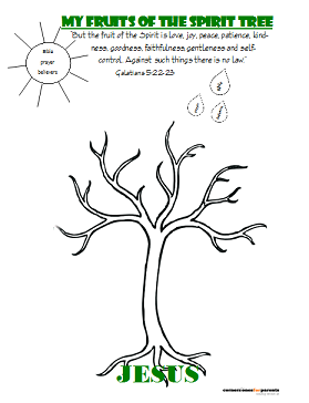 Fruit of the Spirit Printable for kids - page 1