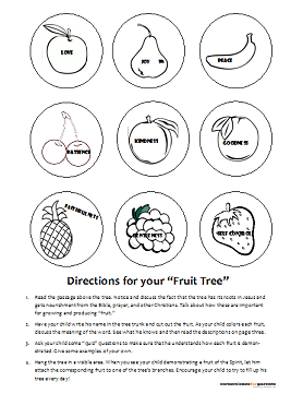 Fruit of the Spirit Printable for kids - page 2