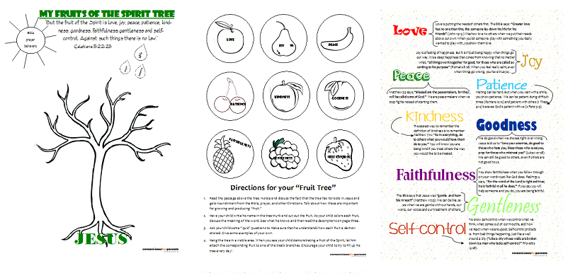 graphic regarding Fruits of the Spirit Printable named Fruit of the Spirit Printable Cornerstones for Dad and mom